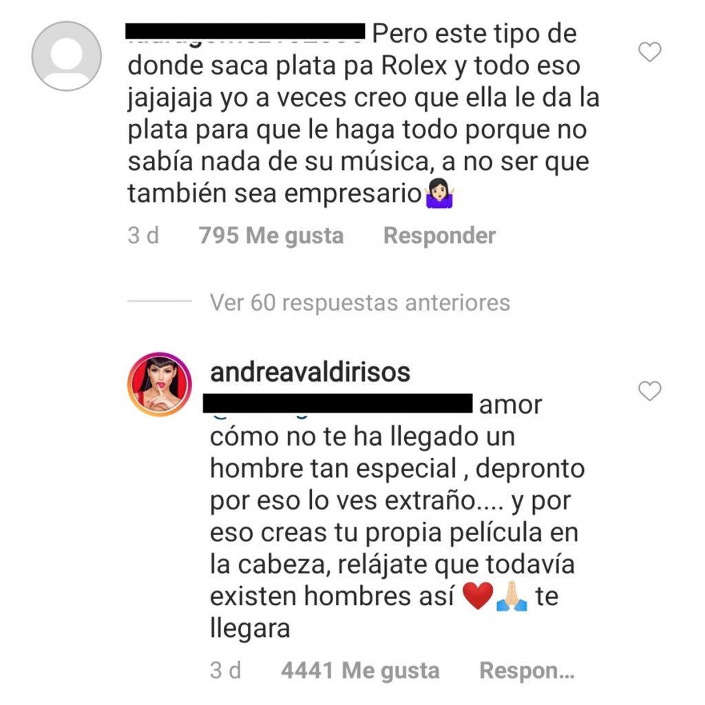Instagram @andreavaldirisos