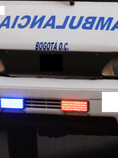Imagen de ambulancia, que ilustra la de los paramédicos que habrían dejado en la calle a hombre que murió