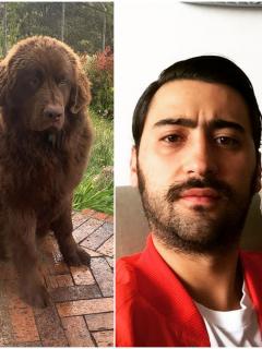 Foto de Variel Sánchez y sus perras, a propósito de que fue acusado de maltrato animal
