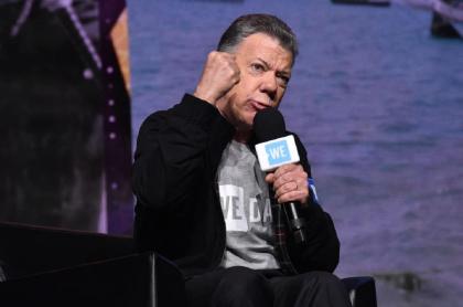 Santos justificó las protestas, defendió el acuerdo de paz y dijo que el 'fracking' es un suicidio