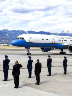 Avión Air Force Two, en el que viajaba el vicepresidente Mike Pence.