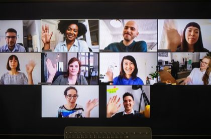 Imagen ilustrativa de trabajadores por teletrabajo.
