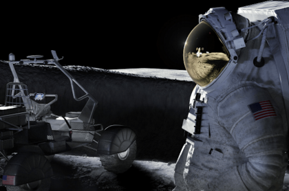Imagen ilustrativa de cuando los próximos astronautas lleguen a la Luna en 2024, lo que le costará 16 mil millones de dólares a la Nasa