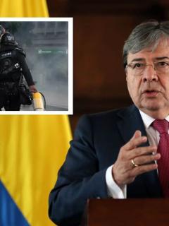 Imagen del ministro de Defensa, quien dijo que el Esmadno comete excesos en protestas