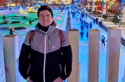 Germán Leonardo Abril, medico colombiano que hace parte del equipo que desarrolla la vacuna 'Sputnik V', en Rusia.