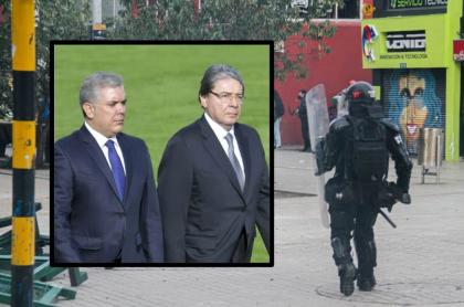 Iván Duque y Carlos Holmes Trujillo, en ceremonia militar, reciben críticas por no acatar fallo de Corte Suprema