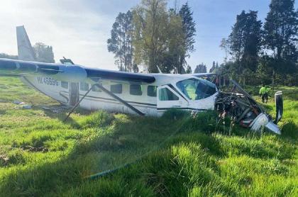 La avioneta de matrícula HK4669G había sido capturada en Honduras transportando droga en el año 2010.