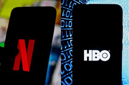 Logotipos de Netflix y HBO para ilustrar nota sobre la comparación entre ambas, cuál es mejor, cuáles son sus precios, ventajas y desventajas