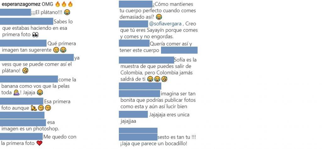 Capturas de pantalla Instagram Sofía Vergara.