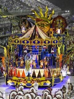 Los tradicionales desfiles de carrozas del Carnaval de Río de Janeiro, que serán aplazados en 2021 por la pandemia de COVID-19.