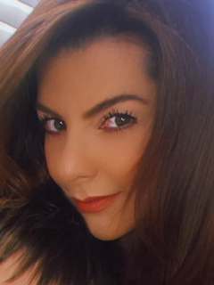 Selfi de Carolina Cruz, presentadora que confirmó en 'Día a día' que está embarazada de Lincoln Palomeque.