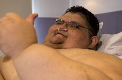 Juan Pedro Franco, que fue el hombre más gordo del mundo en 2016, luego de superar exitosamente el coronavirus en México.