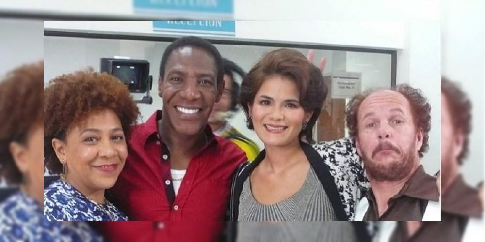 Tatiana Jauregui, Dominga en 'Pasión de gavilanes', en un TBT con James Vargas, Bárbara Perea y Álvaro García.