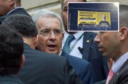 Foto de cuando Uribe estuvo en la Corte, y que ilustra nota de valla que instalaron en su contra en Barrancabermeja