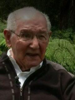 Lucio Chiquito Caicedo, ingeniero civil de 104 años.