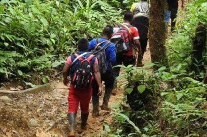 Indígenas Awá, de Tumaco, Nariño, quedaron en medio de enfrentamientos entre grupos armados ilegales. Denuncian secuestro de 40 de ellos y muerte de 5 personas.