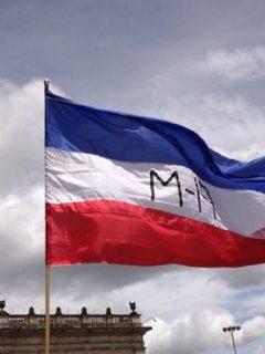 Imagen de bandera de M-19, que ilustra nota de concejales que pedirán no hacer monumento a paz con M-19