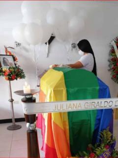 El velorio de Juliana Giraldo, muerta por disparo de un soldado, se llevó a cabo en Jamundí