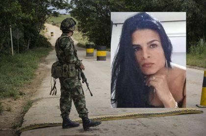 Foto de referencia de militar colombiano, junto a imagen de Juliana Giraldo, para ilustrar las declaraciones del hermano del soldado involucrado en la muerte de la mujer en Cauca.