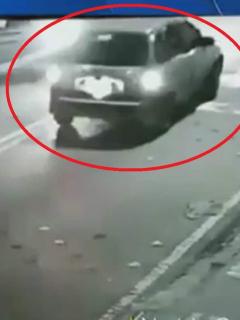 Imagen del momento en que conductor atropelló a ciclista y se escapó, en Bogotá
