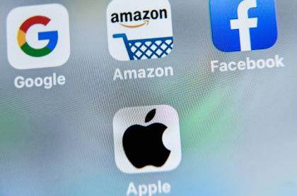 Logos de Google, Amazon, Facebook y Apple ilustran artículo Abogado colombiano denuncia a Facebook, Amazon, Google y Apple.