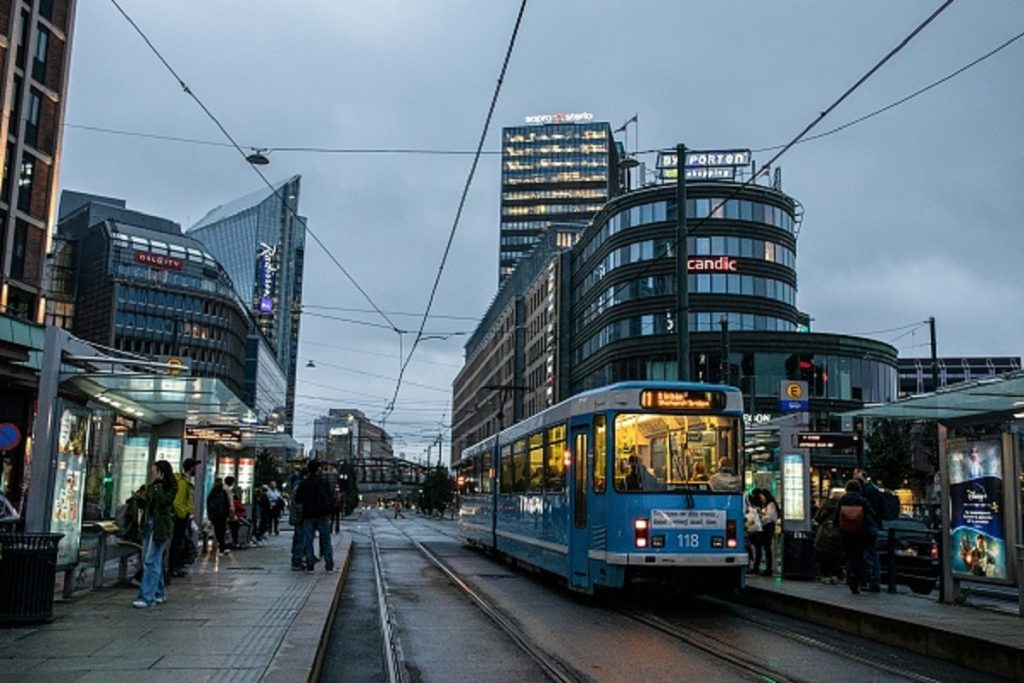Tranvia de Oslo, capital de Noruega.