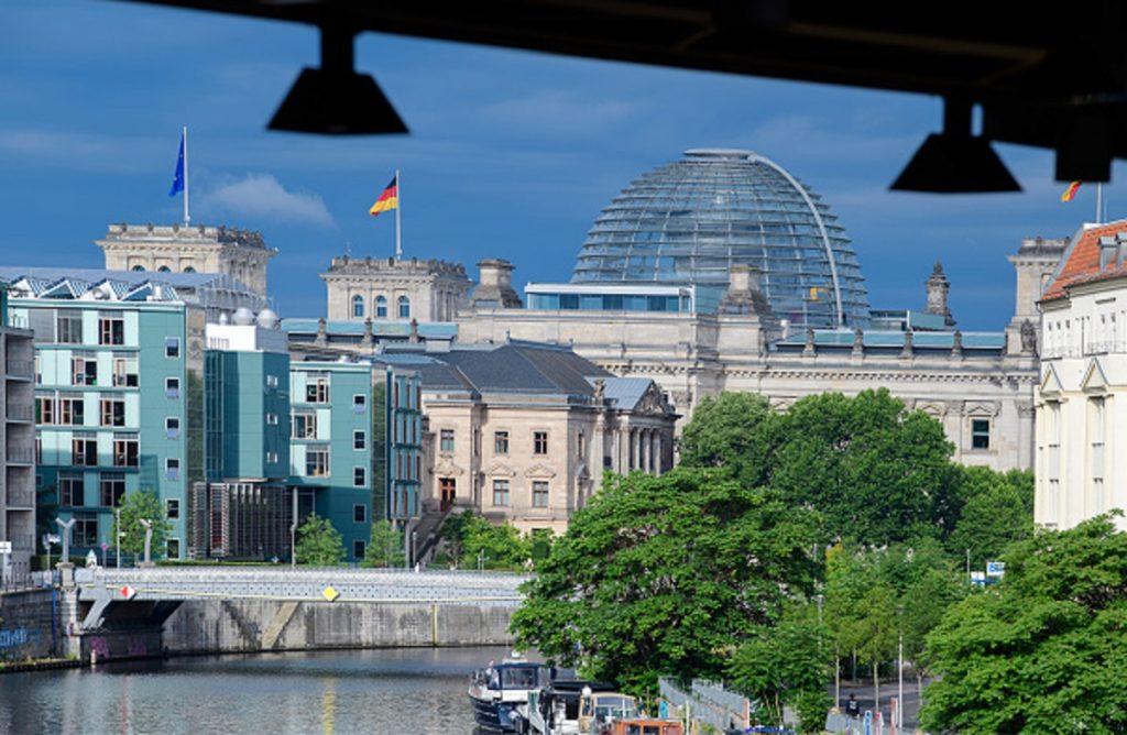 El edificio Reichstag, ubicado en Berlín (Alemania).