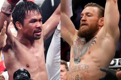Imágenes de referencia de Manny Pacquiao y Conor McGregor.