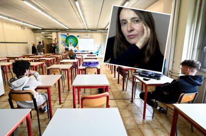 Imágenes de clases presenciales y Paloma Valencia, que propuso dar bonos para que estudiantes de colegios públicos vayan a instituciones privadas