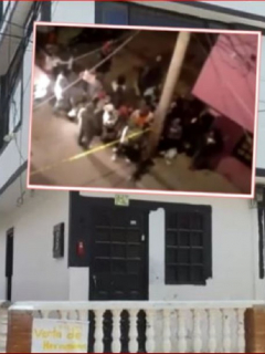 Lugar en donde mataron a 3 personas, y Policía dice que es por disputa entre bandas de Venezuela