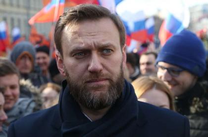 El principal opositor de Vladimir Putin, Alexei Navalny, durante una marcha contra el gobierno ruso.