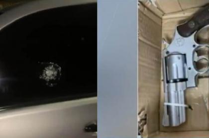 Imagen del arma usada por hombre capturado que disparó a escoltas de Piedad Córdoba