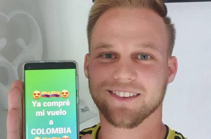 Foto de Dominic Wolf, 'instagramer' alemán que pidió ayuda para que le dieron visa colombiana