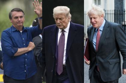 Bolsonaro, Trump y Boris Johnson, presidentes que sufrieron de COVID-19