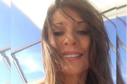 Selfi de Amparo Grisales, actriz que respondió a críticas y burlas, luego de publicar una foto sin ropa.