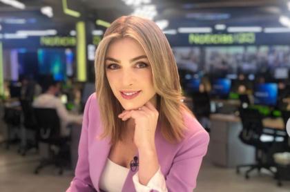 Maritza Aristizábal, presentadora colombiana que padeció el contagio de COVID-19 de 25 familiares.