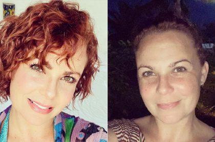 Selfis de Carolina Sabino antes de cambiar de 'look'.