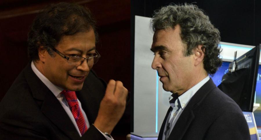 Gustavo Petro y Sergio Fajardo, candidatos presidenciales que ya se enfrentaron en la primera vuelta de 2018.
