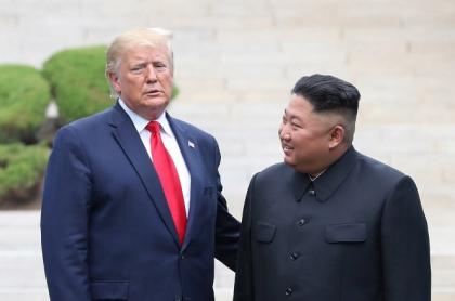 Donald Trump y Kim Jong-un, durante una de sus reuniones.