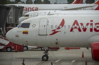 Avión de Avianca, ilustra nota del plan del Ministerio de Transporte ante posible quiebra de Avianca.