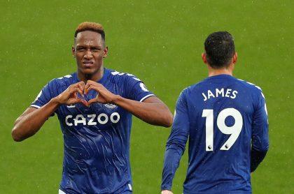 Manchester United vs. Everton: James Rodríguez titular y Yerry Mina no