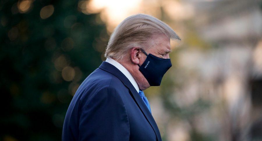 Donald Trump, presidente de Estados Unidos que está hospitalizado pro COVID-19.