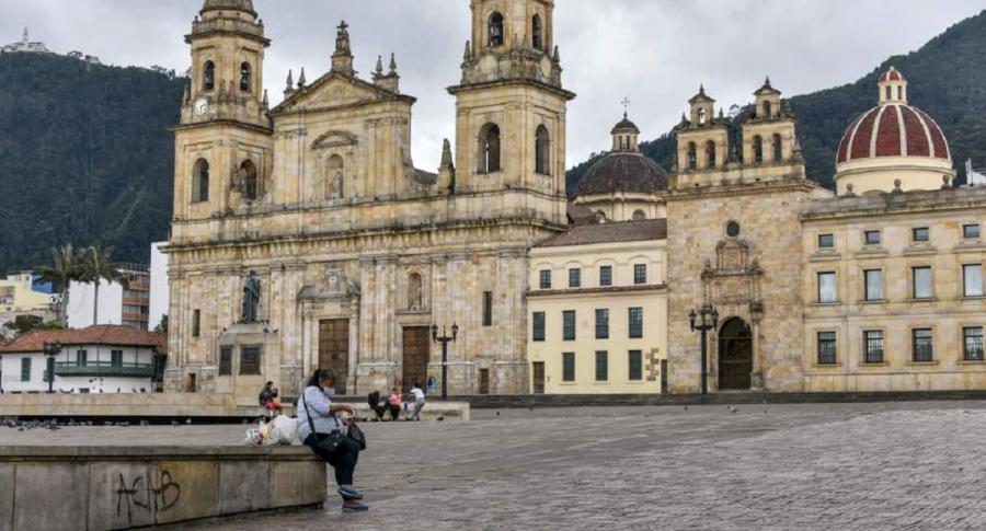 Catedral Primada, centro de Bogotá: el Distrito informó que los homicidios en Bogotá aumentaron 15 %.