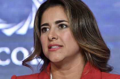 María Juliana Ruiz, esposa de Iván Duque y primera dama que aclaró frase sobre protestas y represión policial, en la Cumbre de las Américas de Concordia 2019.
