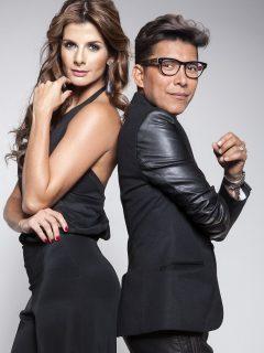 Franklin Ramos, quien reveló los problemas de salud que tuvo cuando se volvía vegetariano, con Carolina Cruz cuando trabajaban en 'Colombia's Next top model'.