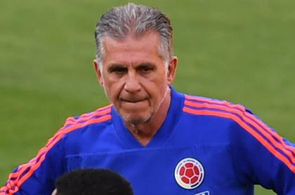 Mateus Uribe, baja para la Selección Colombia dirigida por Carlos Queiroz. Imagen de referencia del entrenador.
