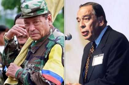 Manuel Marulanda Vélez, alias 'Tirofijo' y Álvaro Gómez Hurtado