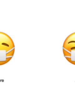 Actualización del emoji con mascarilla médica en Apple.