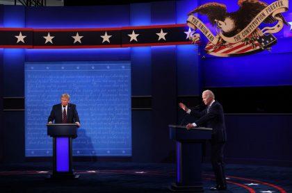 Debate entre Donald Trump y Joe Biden, a propósito de las elecciones en Estados Unidos.