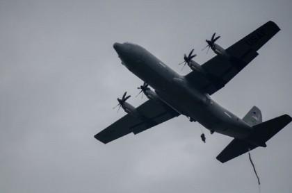 Avión Hércules de la Fuerza Aérea colombiana, como el que entregó Estados Unidos a Colombia en octubre del 2020.